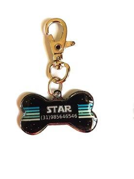 Pingente Personalizado P/ Cães Star Wars Preto
