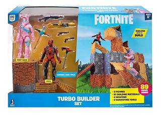 Fortnite Turbo Builder 2 Muñecos 89 Piezas 4 Armas 2 Picos