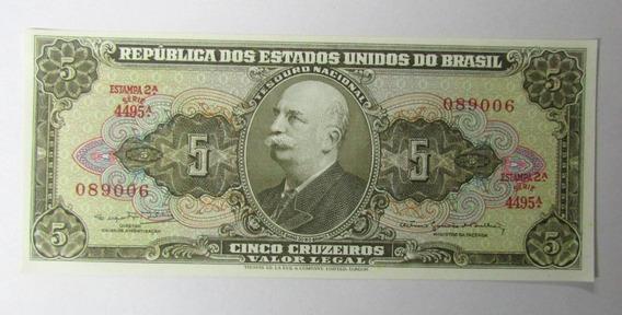 Brasil 5 Cruzeiros 1964 Pick 176d Unc Sin Circular