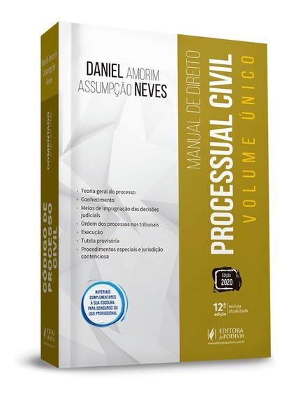 Manual De Direito Processual Civil Volume Unico 12ª Ed. 2020
