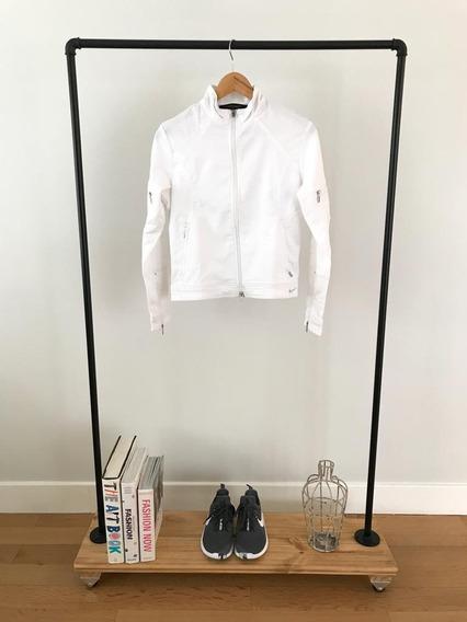 Campera Finita Mujer Nike Blanca Talle M - Casi Sin Uso