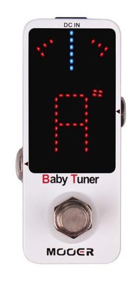 Pedal Afinador Mooer Baby Tuner Para Guitarra Baixo Mtu1 9v