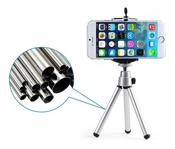Tripe Mini Inox Rotação 360 Ajustável iPhone Android