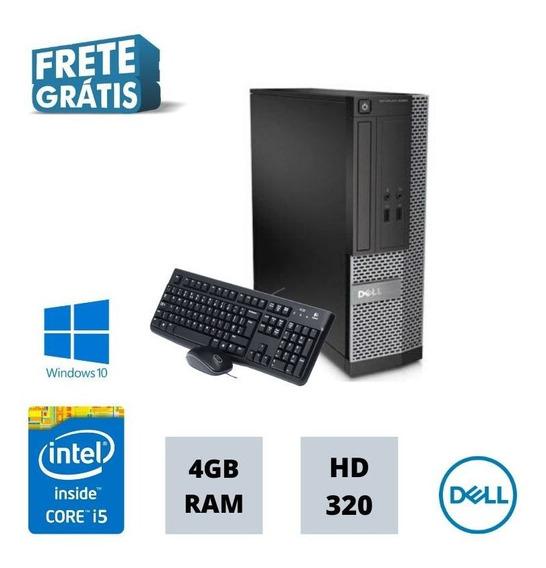 Cpu Dell 3020 I5 4gb 320gb Win 10 Gravador De Dvd Frete !
