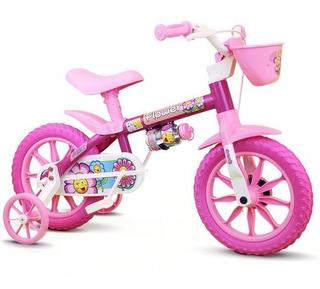 Bicicleta Infantil Aro 12 Menina Nathor - Flower