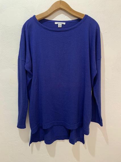 Sweater Jazmín Chebar Algodón Azul
