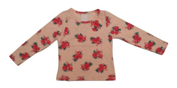 Blusa Blusinha Cotton Menina Renda Enxoval Criança Infantil