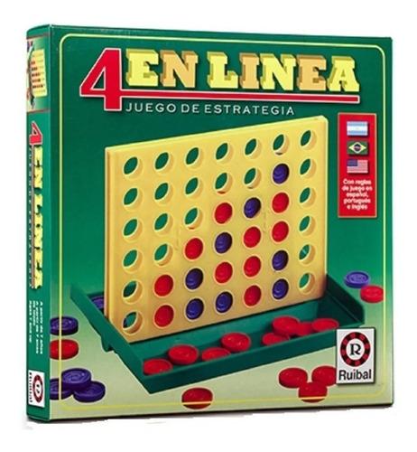 4 En Linea Clasico Cuatro Ruibal Fichas Original