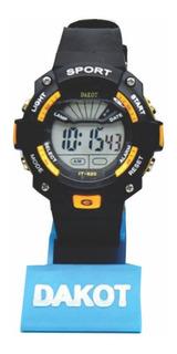 Reloj Digital Deportivo Cronometro Luz Sumergible Dakot 166