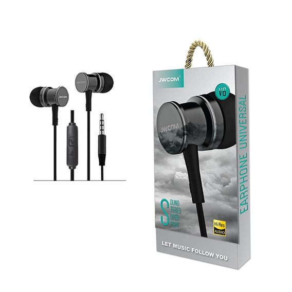 Fone De Ouvido Com Microfone In-ear Fo-v6 Super Bass