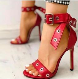 Sandalia Salto Alto 10 Cm Verniz Fino Feminino 1855