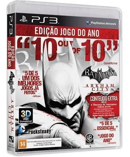 Jogo Batman Arkham City Game Year Edition - Ps3 Usado