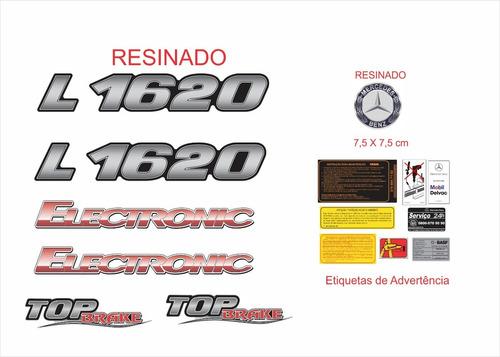 Kit Emblemas Mercedes Benz L 1620 Top Brake Eletronic Krt88