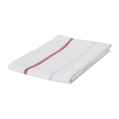 Ikea Dish Towel 101.009.09, Paquete De 5, Blanco, Rojo