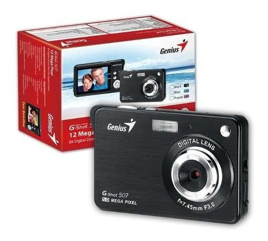 Camera Digital Genius Zoom Digital De 8x Bateria
