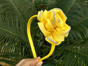 Tiara Com Flor Amarela 1 Unidade Proxixo Arts