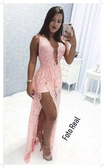 Vestido De Renda Longo De Festa Vira Macacão E Saída De Praia Vestido De Casamento Tamanho P M G Promoção