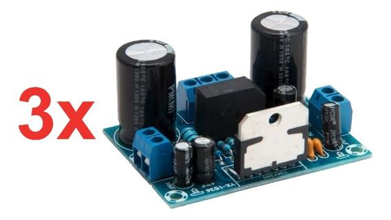 3 Amplificador Potência De Áudio Tda7293 100w Placa Montada