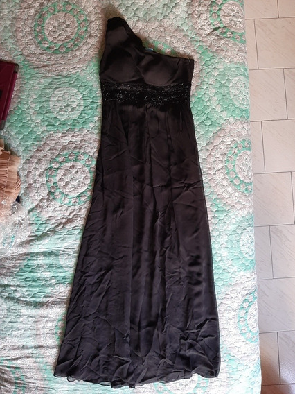 Vestido Largo Negro Un Hombro Oc Oc Talla 4