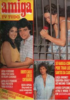 Revista Amiga Tv Tudo Vera Fischer Roberto Carlos Ano 1987