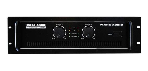 Amplificador Potência Mark Audio Mk4800 800w