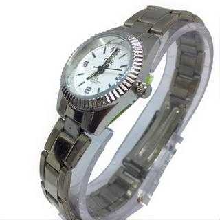 Reloj Mujer Time 1020 Acero Inoxidable Wr 30mts Agujas Lumi