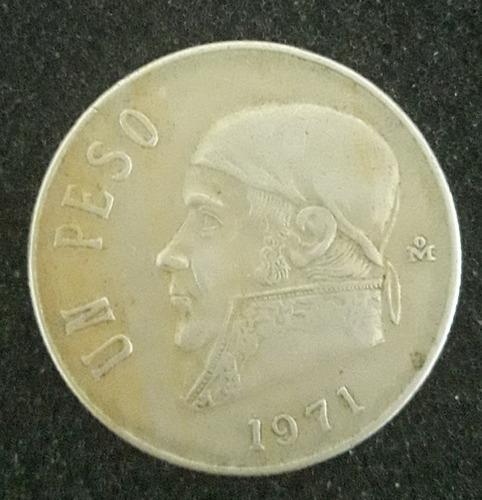 Imagem 1 de 2 de Moeda Un Peso Ano 1971 Estados Unidos Mexicanos
