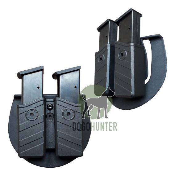 Porta Cargador Táctico Polímero Nivel 2 Doble 9-40 Universal