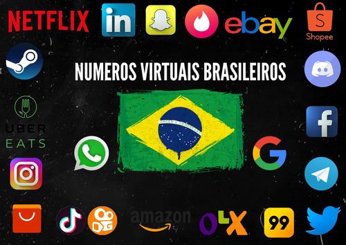 Números Virtuais (br) Para Ativação De App/site