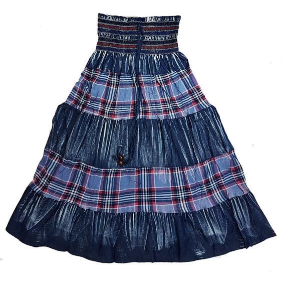 Vestido/saia Indiana Longa Todos Os Tamanhos Varias Cores