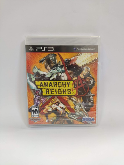 Anarchy Reigns Ps3 Mídia Física Novo Lacrado