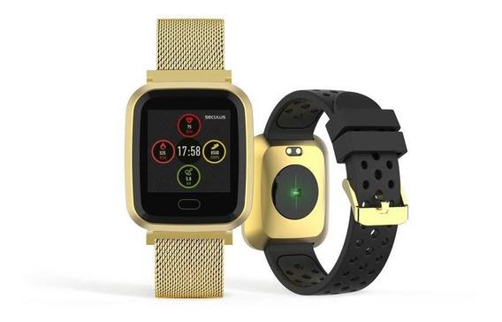 Relógio Unissex Seculus Smartwatch 79006mpsvde1 36mm Dourado