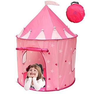 Kiddey Princess Castle Play Tent (pink) - Con Glow In The Da