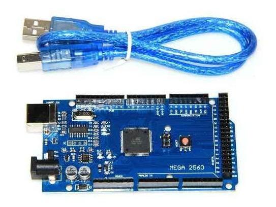 Placa Mega 2560 R3 Ch340 Compatível + Cabo Usb Para Robótica