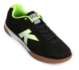 Tênis Chuteira Futsal Kelme Preta (100% Original) E Com N F