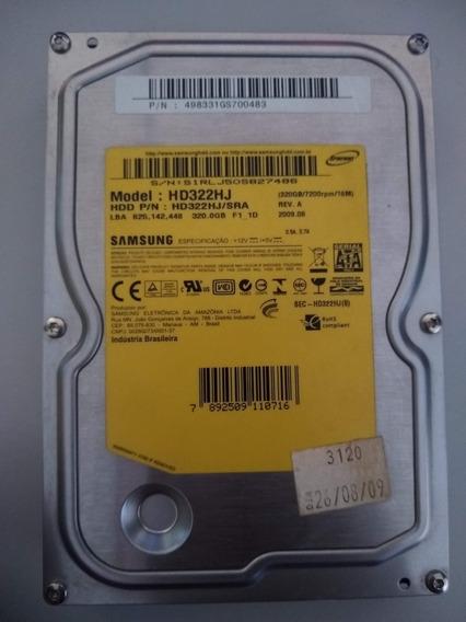 Hd Para Computador 320gb Sata Samsung Usado
