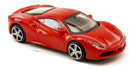 Auto Ferrari 488 Gtb 1/43 Burago Metal