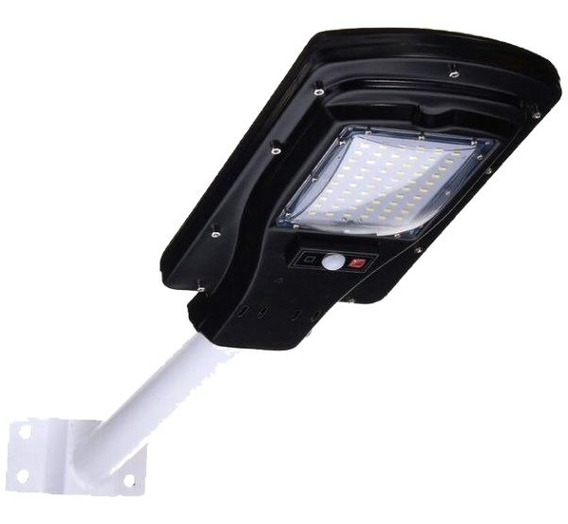 Luminária Publica Solar 60 Leds 30w Ip65 Sensor Movimento