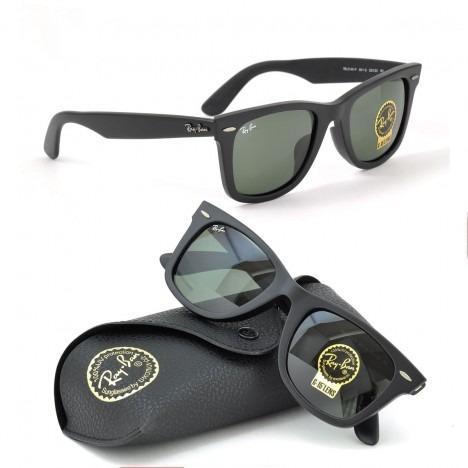 d08504f71 Oculos De Sol Ray Ban Wayfarer Rb2140 Black Piano Fosco Unis - R$ 213,90 em  Mercado Livre