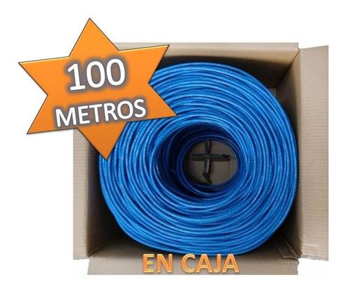 Bobina Cable Utp Cat5e 100 Metros Rj45 Cctv Red Internet