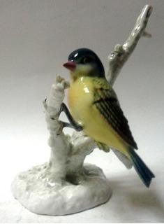 Oferta Figura Porcelana Alemana Años 60 Pájaro En Tronco