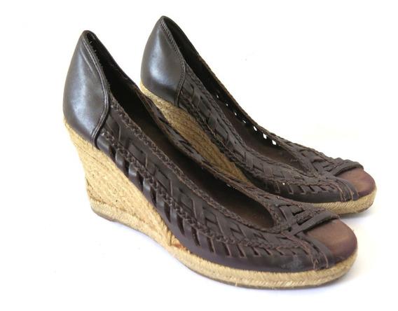Zapatos Nine West Boca De Pez Trenzados Cuero 38