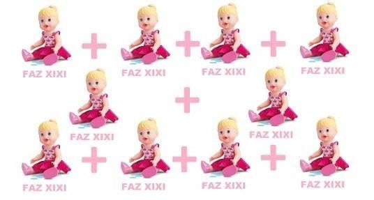 Kit Atacado 10 Bonecas Little Alive Baby Faz Xixi Divertoys