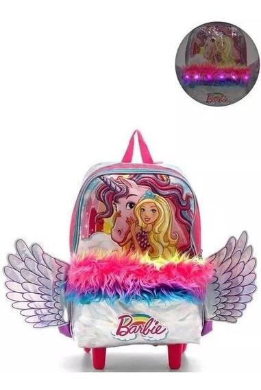 Mochila Infantil Escolar Barbie Unicórnio Dreamtopia Sestini