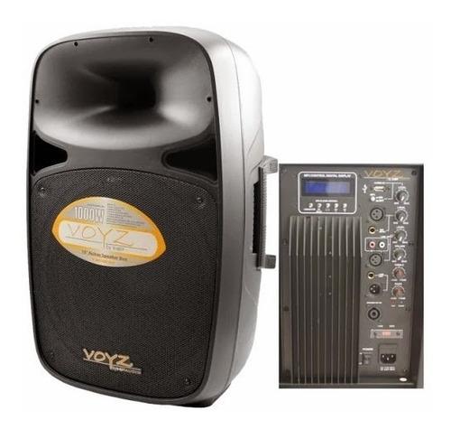 Bocina Bafle Voyz 15`` Amplificado 1000w, Bluetooth, Usb
