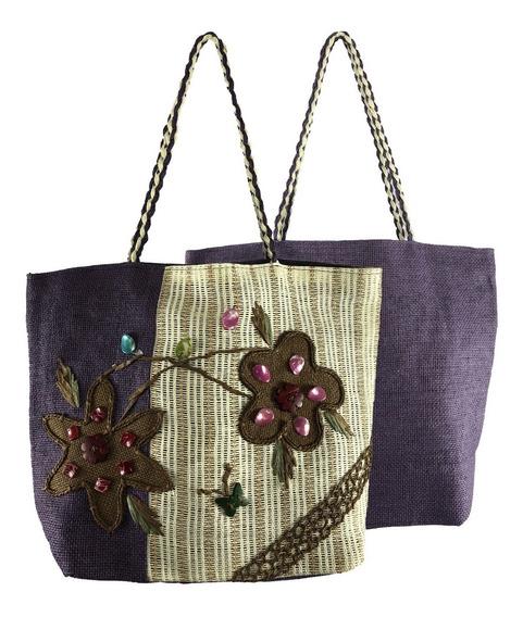 Bolsa Feminina Grande Tipo Sacola Comercial Textil Hy17081