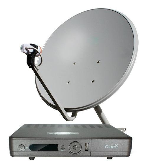 Antena Com Decoder Ku 60cm Kit Claro Tv Pre Pago - Cromus