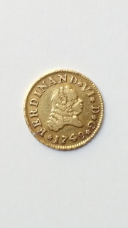 Moneda 1/2 Escudo De Oro Ferdinand Vl