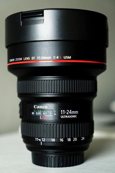 Lente Canon Ef 11-24mm F/4l Usm ( Usada 4 Meses )