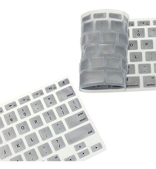 Protetor Teclado Silicone Cinza Macbook 13 15 17 Air 13
